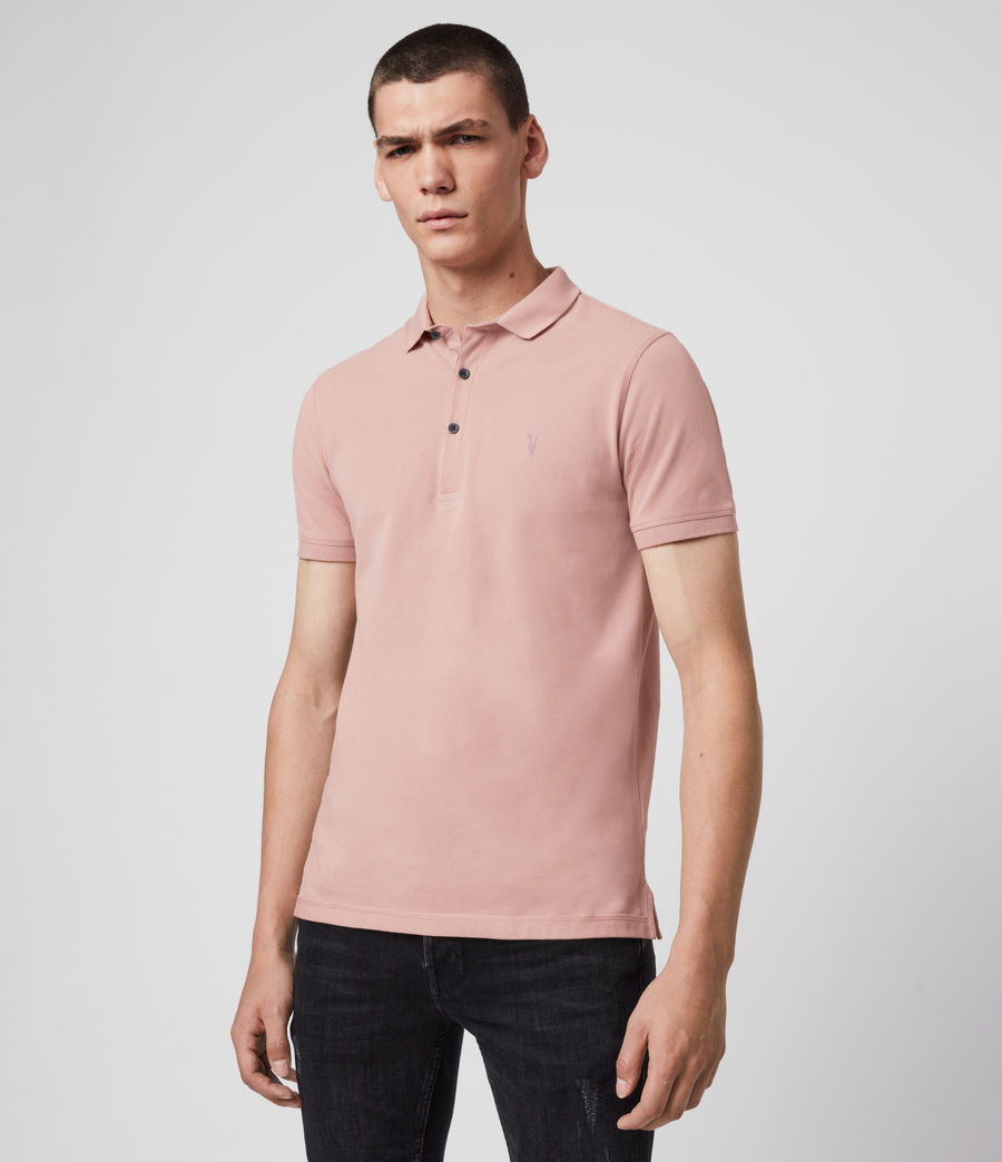 Men's Reform Short Sleeve Polo Shirt (sunset_pink) - Image 4