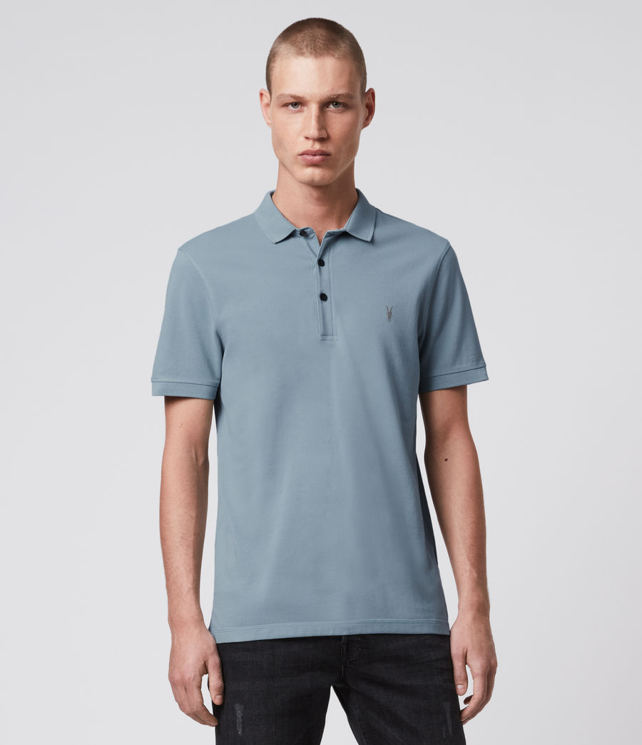 Hombre Reform Short Sleeve Polo Shirt (ceramic_blue) - Image 1