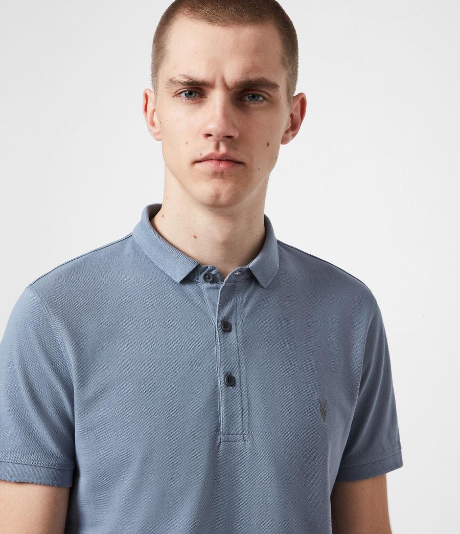 Herren Reform Short Sleeve Polo Shirt (twilight_grey) - Image 4
