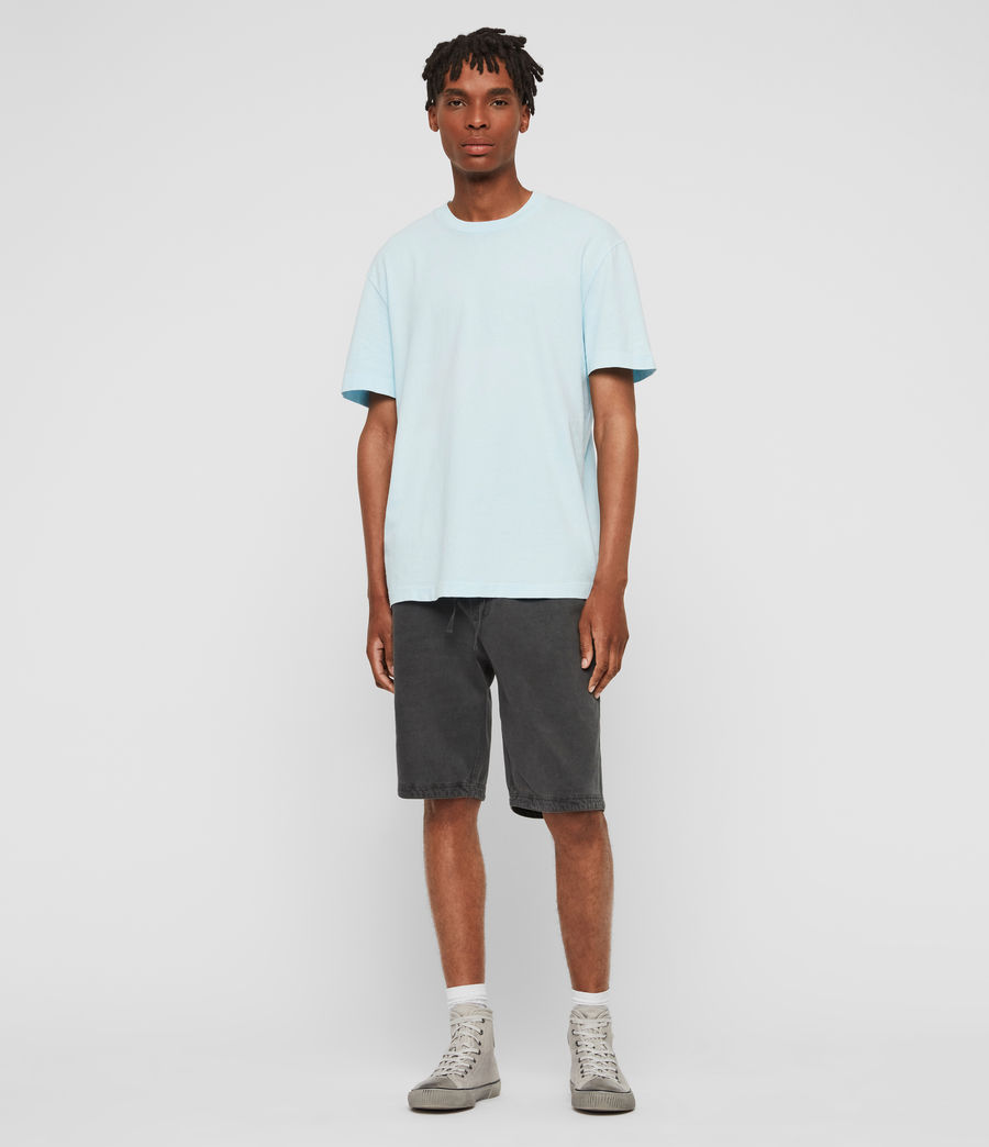 Men's Lambert Crew T-Shirt (neon_aqua_blue) - Image 1