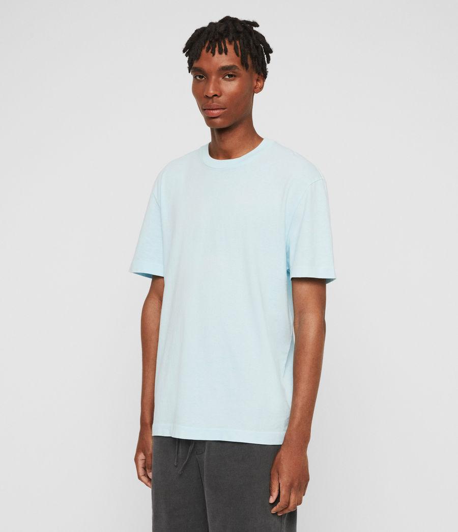 Men's Lambert Crew T-Shirt (neon_aqua_blue) - Image 2