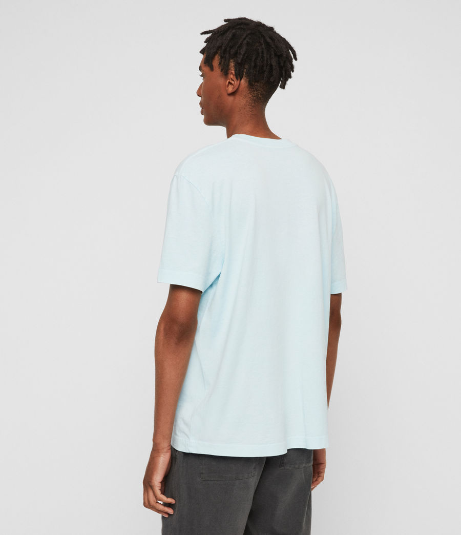 Men's Lambert Crew T-Shirt (neon_aqua_blue) - Image 4