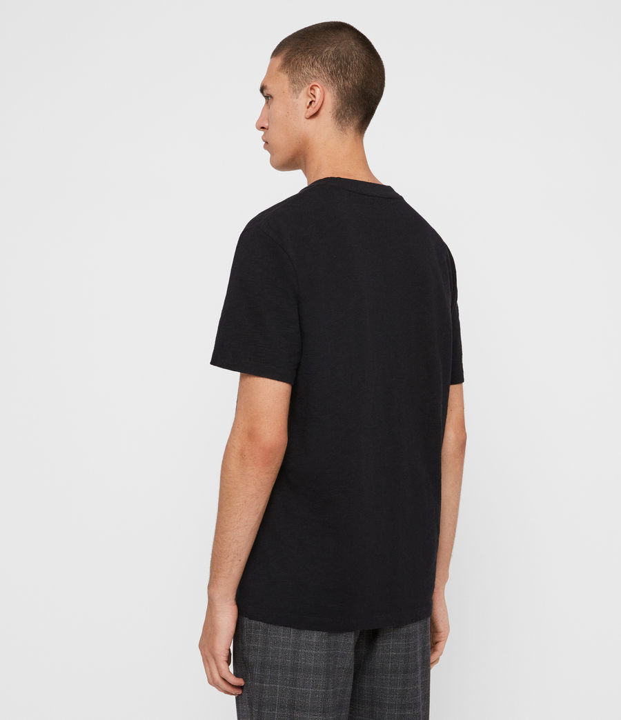 Men's Sage Crew T-Shirt (jet_black) - Image 5