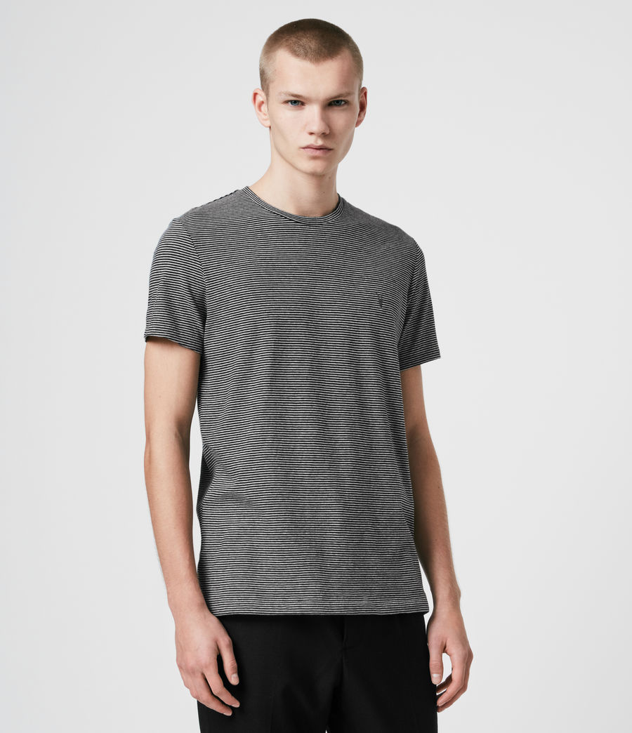 Hombres Tonic Marine Crew T-Shirt (jet_black_grey_ml) - Image 3