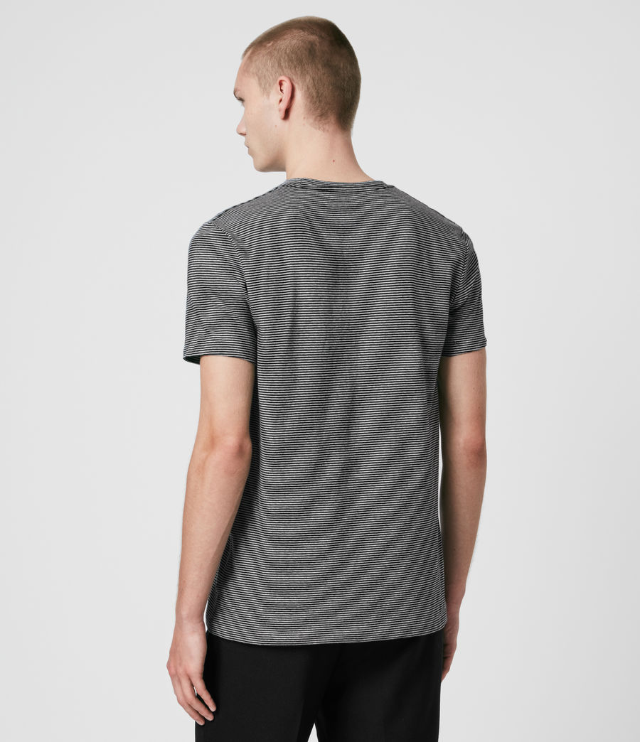 Mens Tonic Marine Crew T-Shirt (jet_black_grey_ml) - Image 5