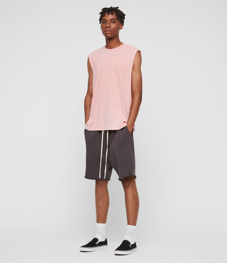 Mens Acetic Sleeveless Crew T-Shirt (havana_pink) - Image 2