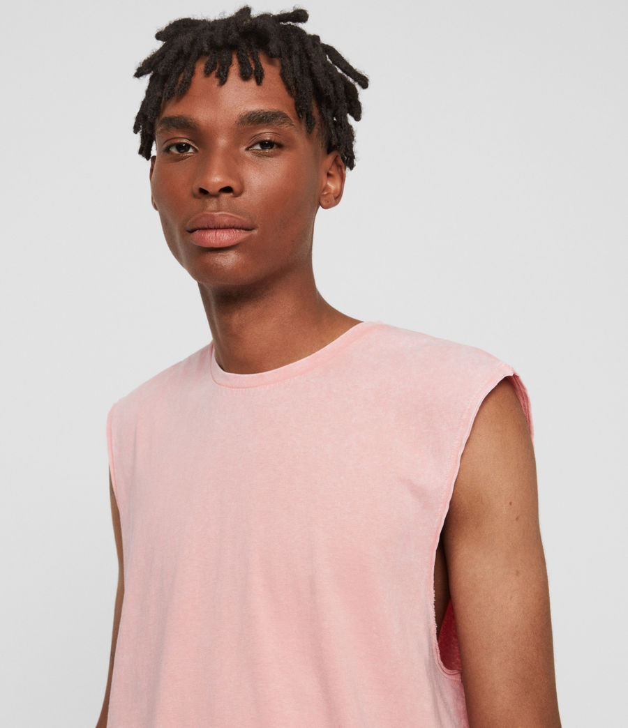 Mens Acetic Sleeveless Crew T-Shirt (havana_pink) - Image 3