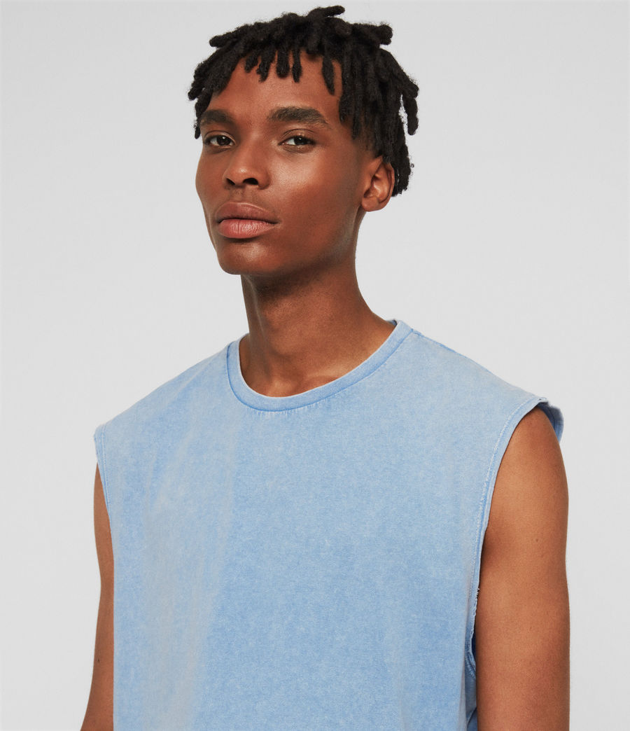 Mens Acetic Sleeveless Crew T-Shirt (atlantic_blue) - Image 3
