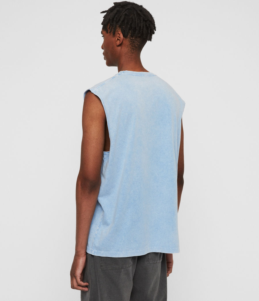 Mens Acetic Sleeveless Crew T-Shirt (atlantic_blue) - Image 4