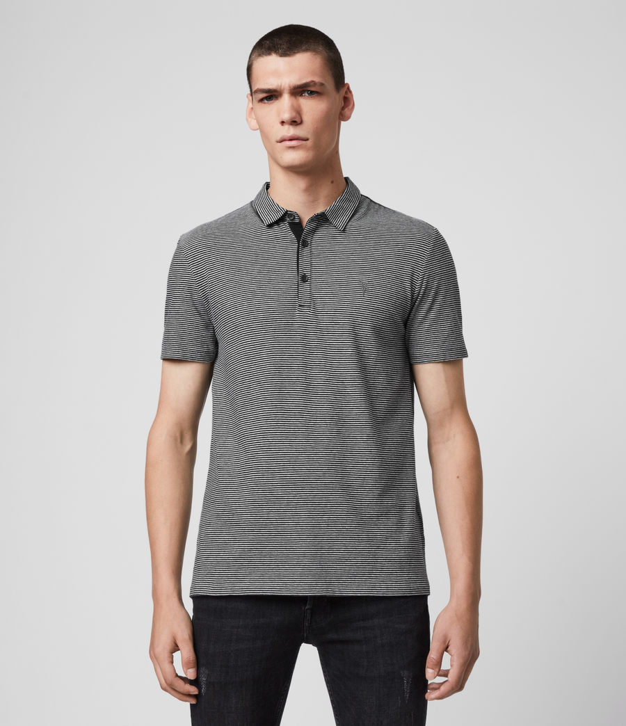 Men's Tonic Marine Polo Shirt (jet_black_grey_ml) - Image 1