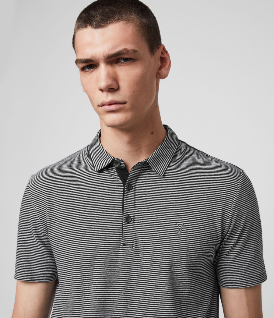 Men's Tonic Marine Polo Shirt (jet_black_grey_ml) - Image 2