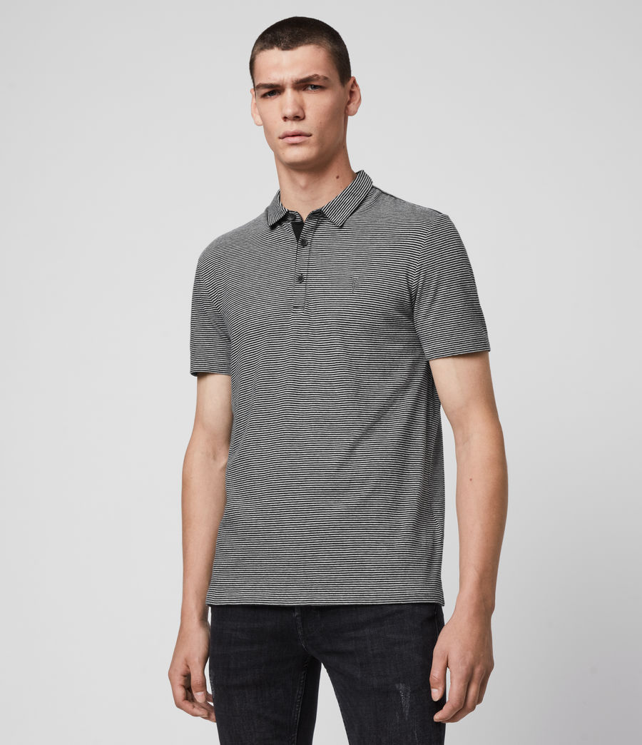 Men's Tonic Marine Polo Shirt (jet_black_grey_ml) - Image 4