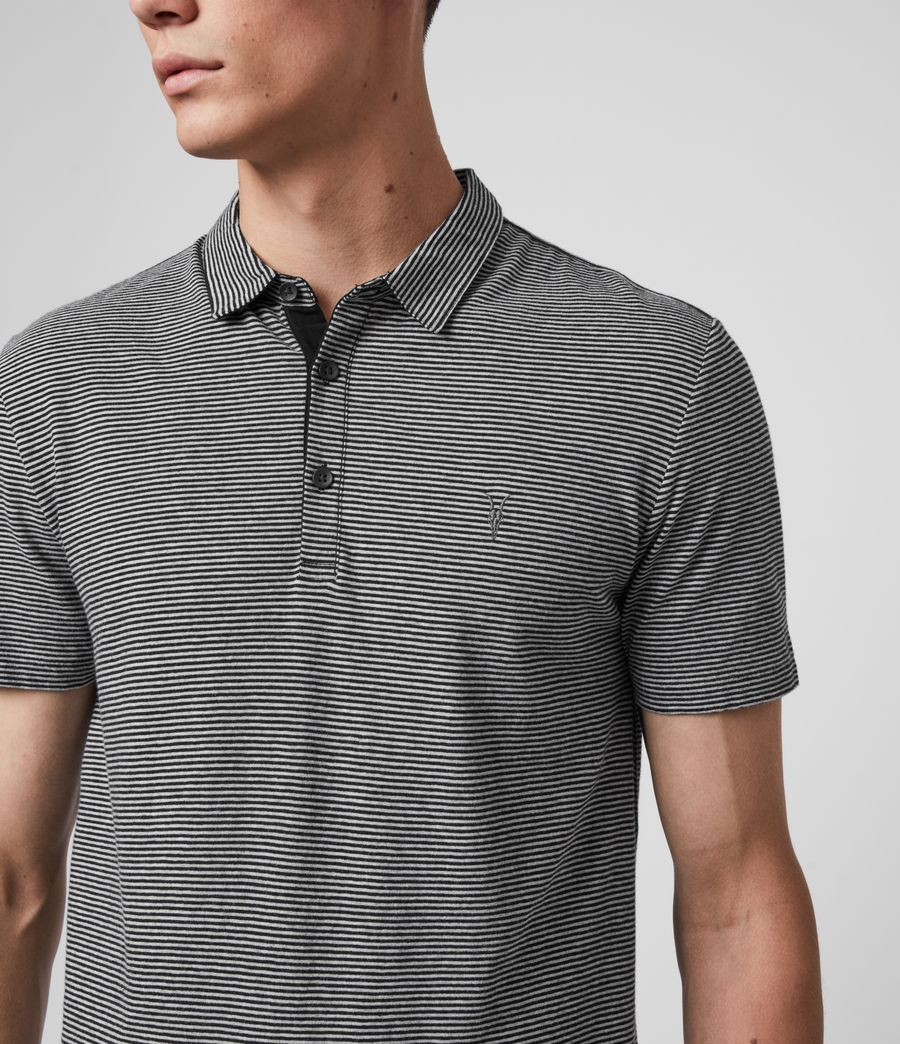 Hombres Tonic Marine Polo Shirt (jet_black_grey_ml) - Image 3