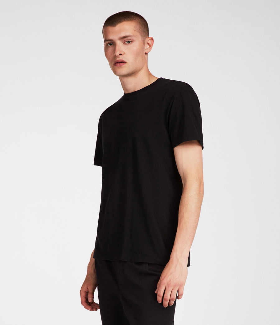 Mens Tubular Crew T-Shirt (jet_black) - Image 1