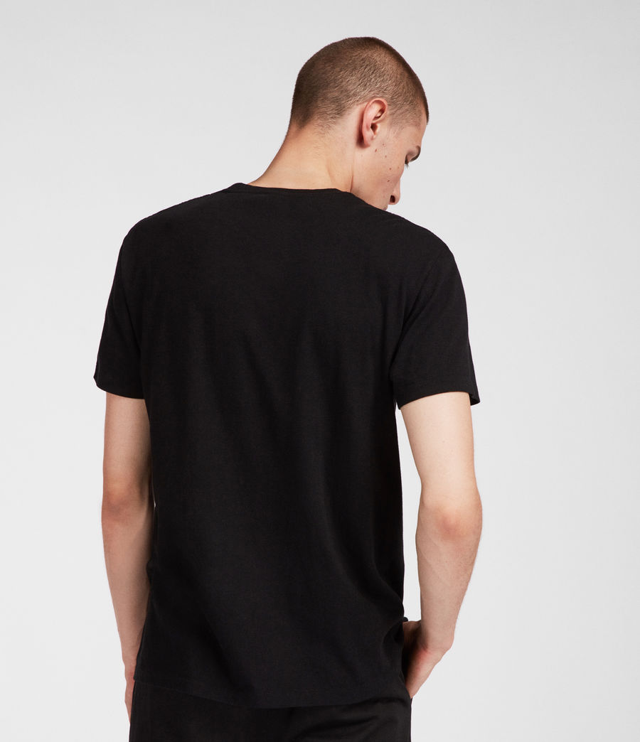 Mens Tubular Crew T-Shirt (jet_black) - Image 2