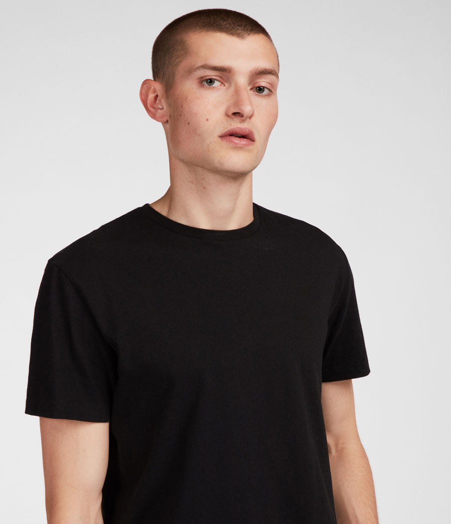 Mens Tubular Crew T-Shirt (jet_black) - Image 3