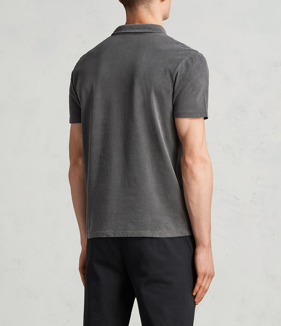 Mens Ossage Polo Shirt (heath_grey) - Image 4