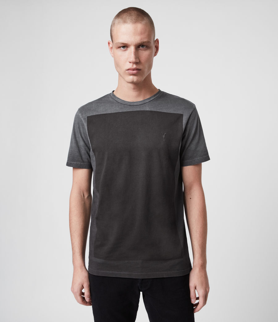 Mens Lobke Fade Crew T-Shirt (washed_black) - Image 1