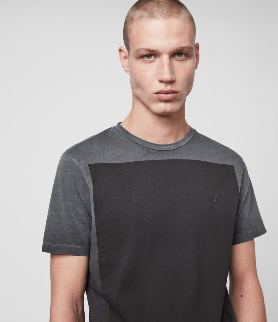 Mens Lobke Fade Crew T-Shirt (washed_black) - Image 2