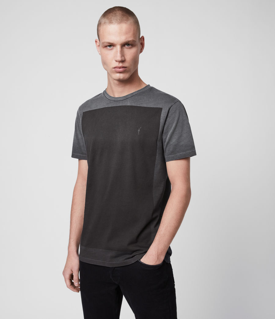 Mens Lobke Fade Crew T-Shirt (washed_black) - Image 3