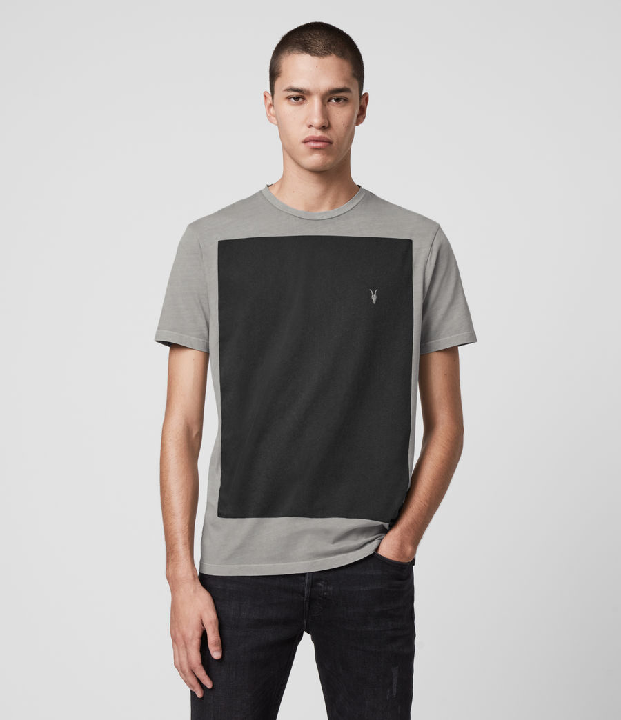 Mens Lobke Fade Crew T-Shirt (washed_grey) - Image 1