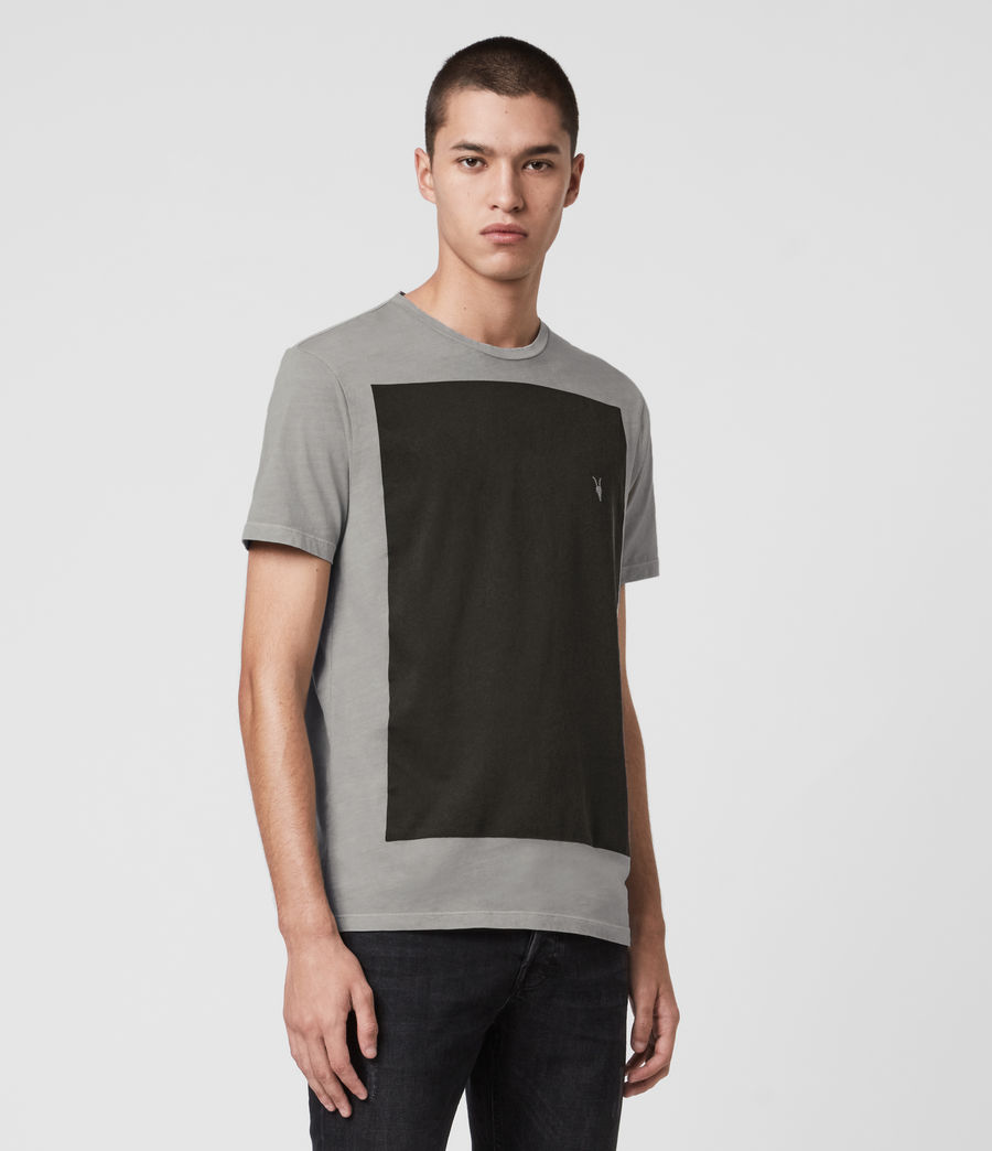 Mens Lobke Fade Crew T-Shirt (washed_grey) - Image 4