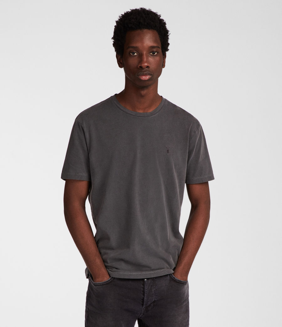 Uomo T-shirt Ossage (washed_black) - Image 1