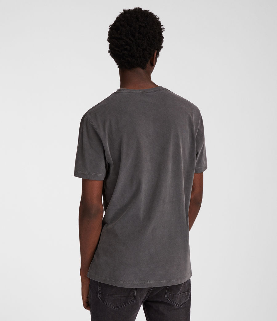 Uomo T-shirt Ossage (washed_black) - Image 4