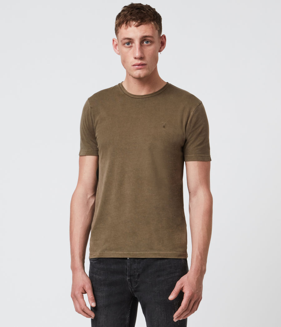Herren Ossage Crew T-Shirt (army_green) - Image 1