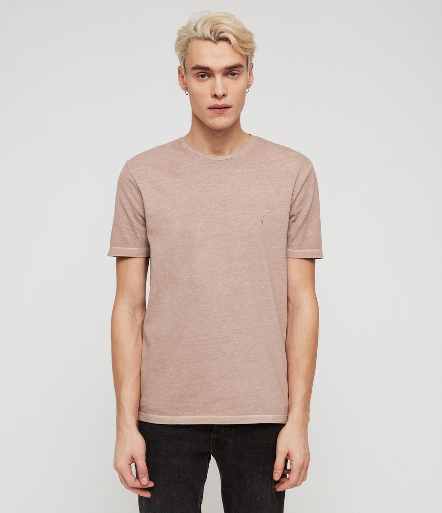 Mens Ossage Crew T-Shirt (mushroom_pink) - Image 1