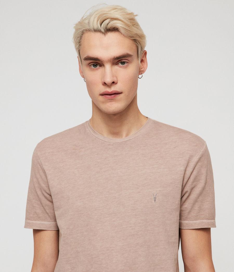 Mens Ossage Crew T-Shirt (mushroom_pink) - Image 2