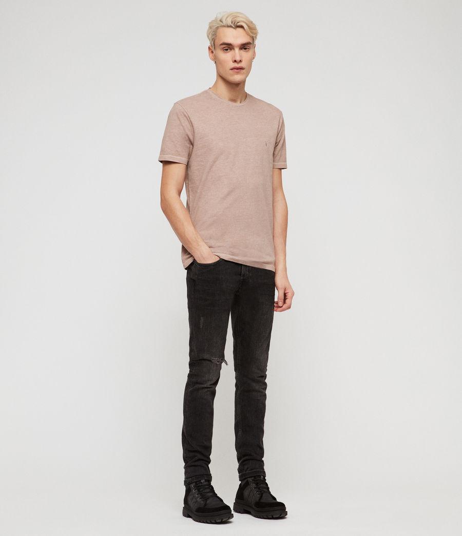 Mens Ossage Crew T-Shirt (mushroom_pink) - Image 3