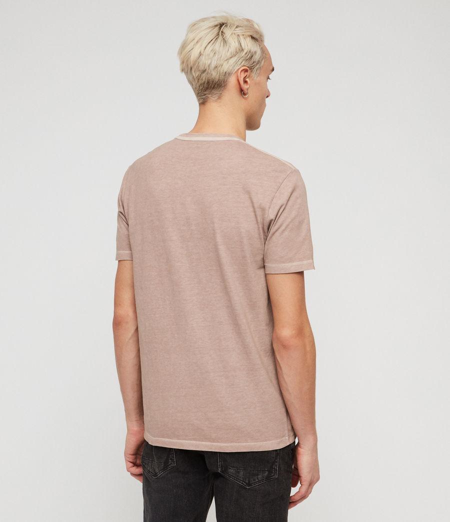 Mens Ossage Crew T-Shirt (mushroom_pink) - Image 4