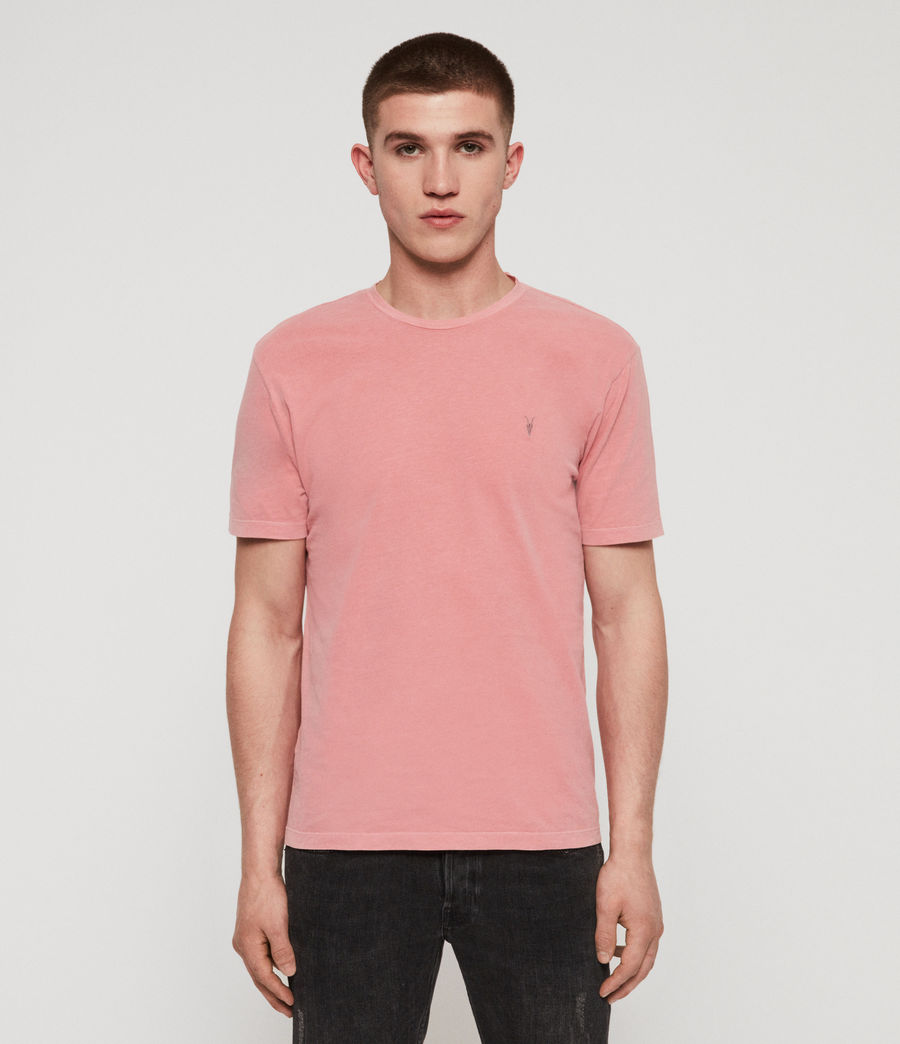 Mens Ossage Crew T-Shirt (moth_pink) - Image 1
