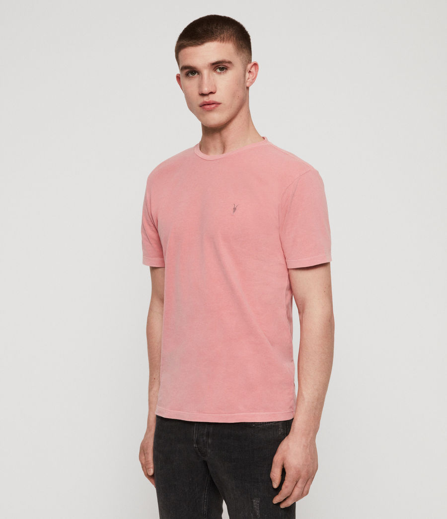 Mens Ossage Crew T-Shirt (moth_pink) - Image 2