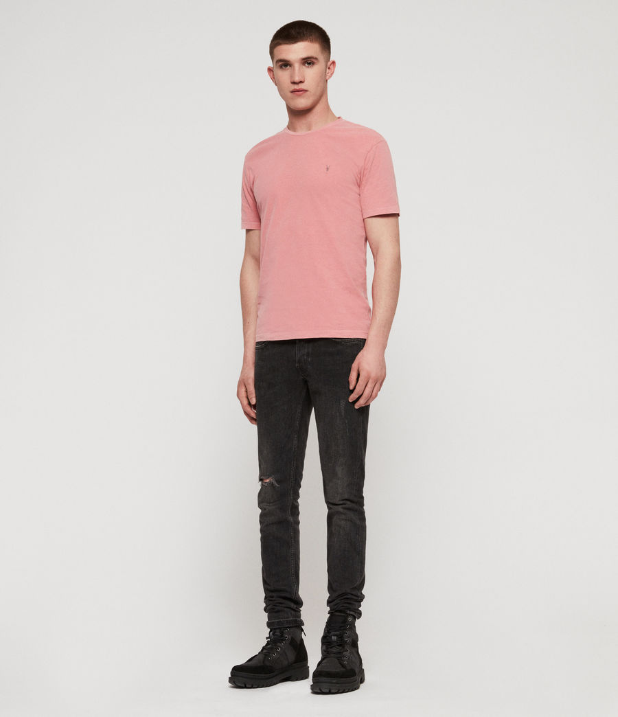 Mens Ossage Crew T-Shirt (moth_pink) - Image 3