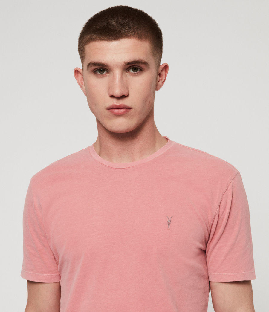 Mens Ossage Crew T-Shirt (moth_pink) - Image 4