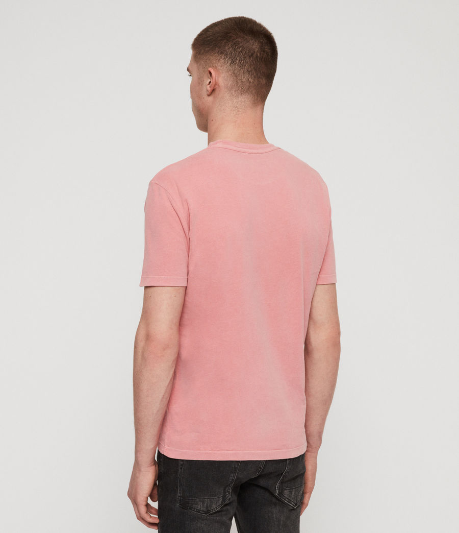 Mens Ossage Crew T-Shirt (moth_pink) - Image 5