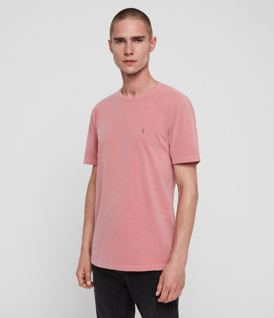 Herren Ossage Crew T-Shirt (havana_pink) - Image 2
