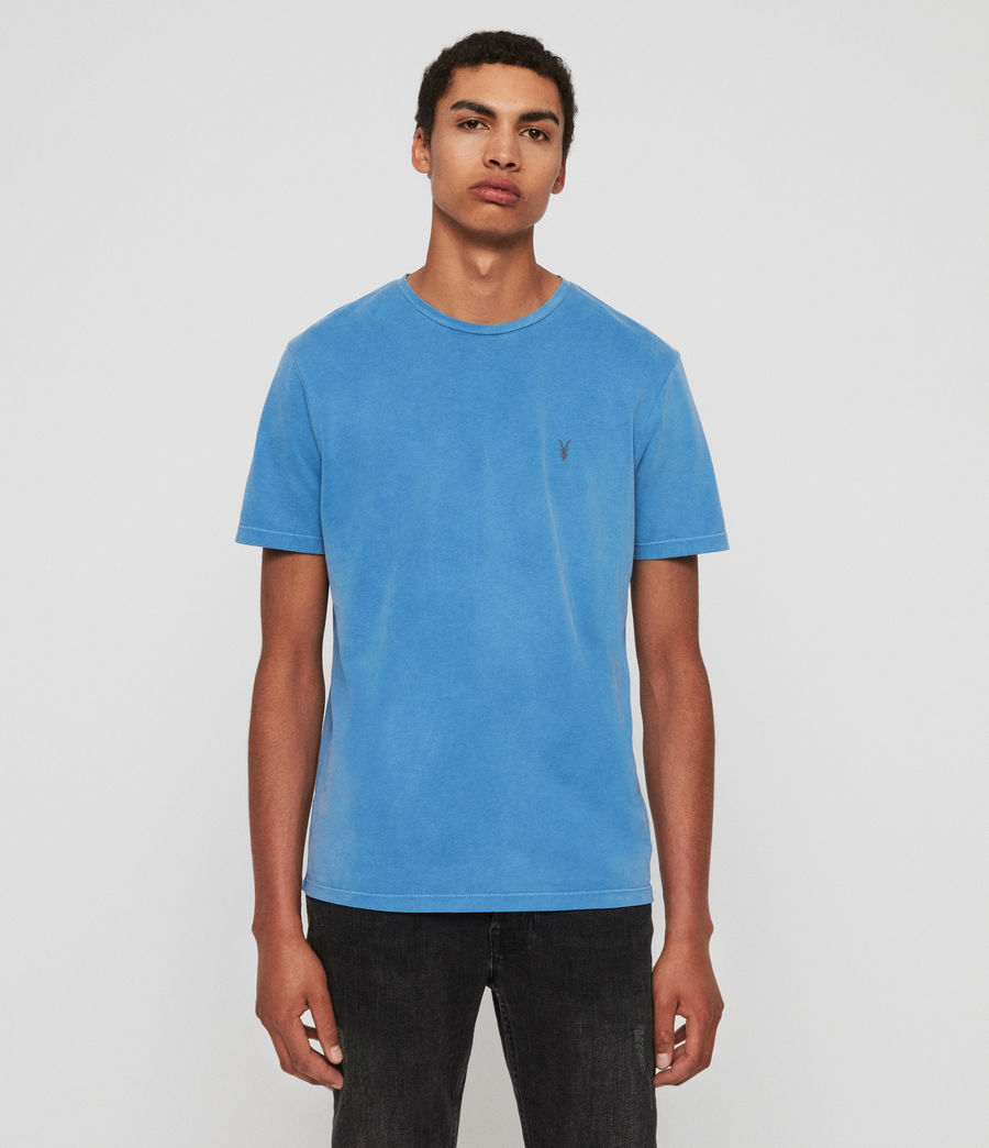 Mens Ossage Crew T-Shirt (atlantic_blue) - Image 1