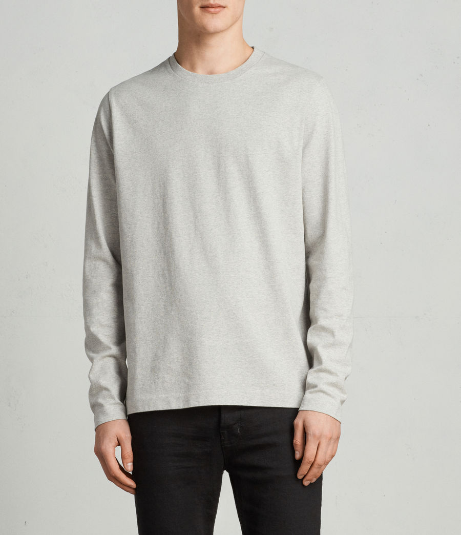 Men's Monta Long Sleeve Crew (Grey Marl) - Image 1