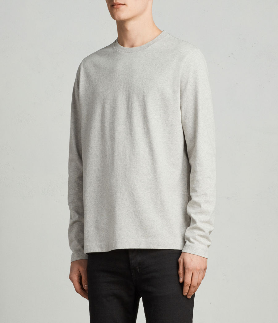 Men's Monta Long Sleeve Crew (Grey Marl) - Image 2