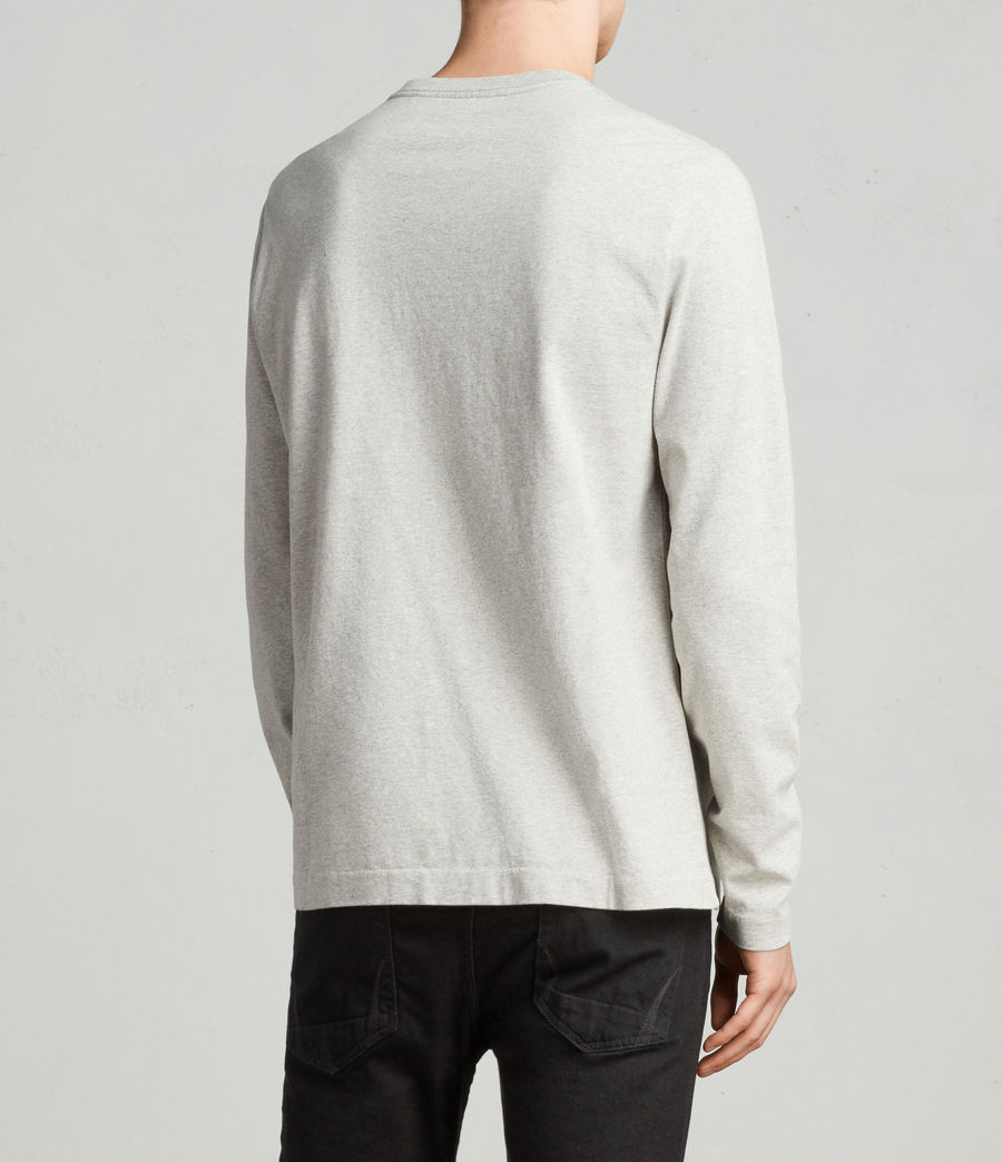 Men's Monta Long Sleeve Crew (Grey Marl) - Image 3