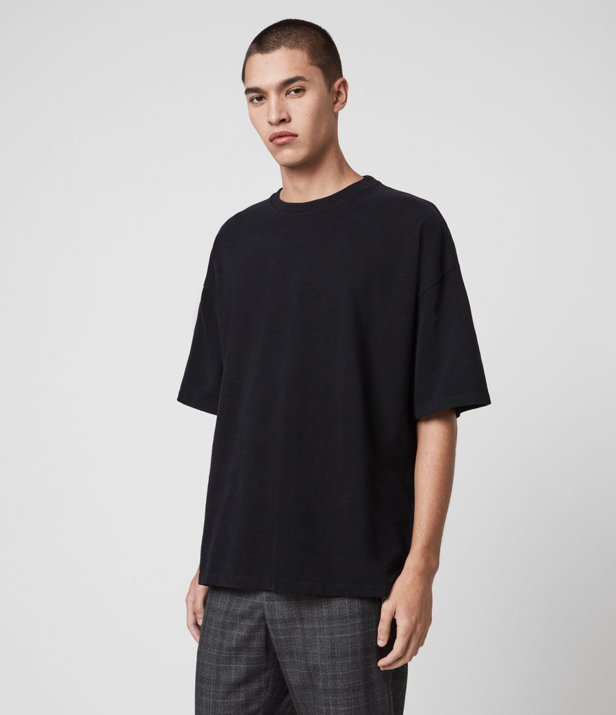 Men's Islanders Crew T-Shirt (jet_black) - Image 4