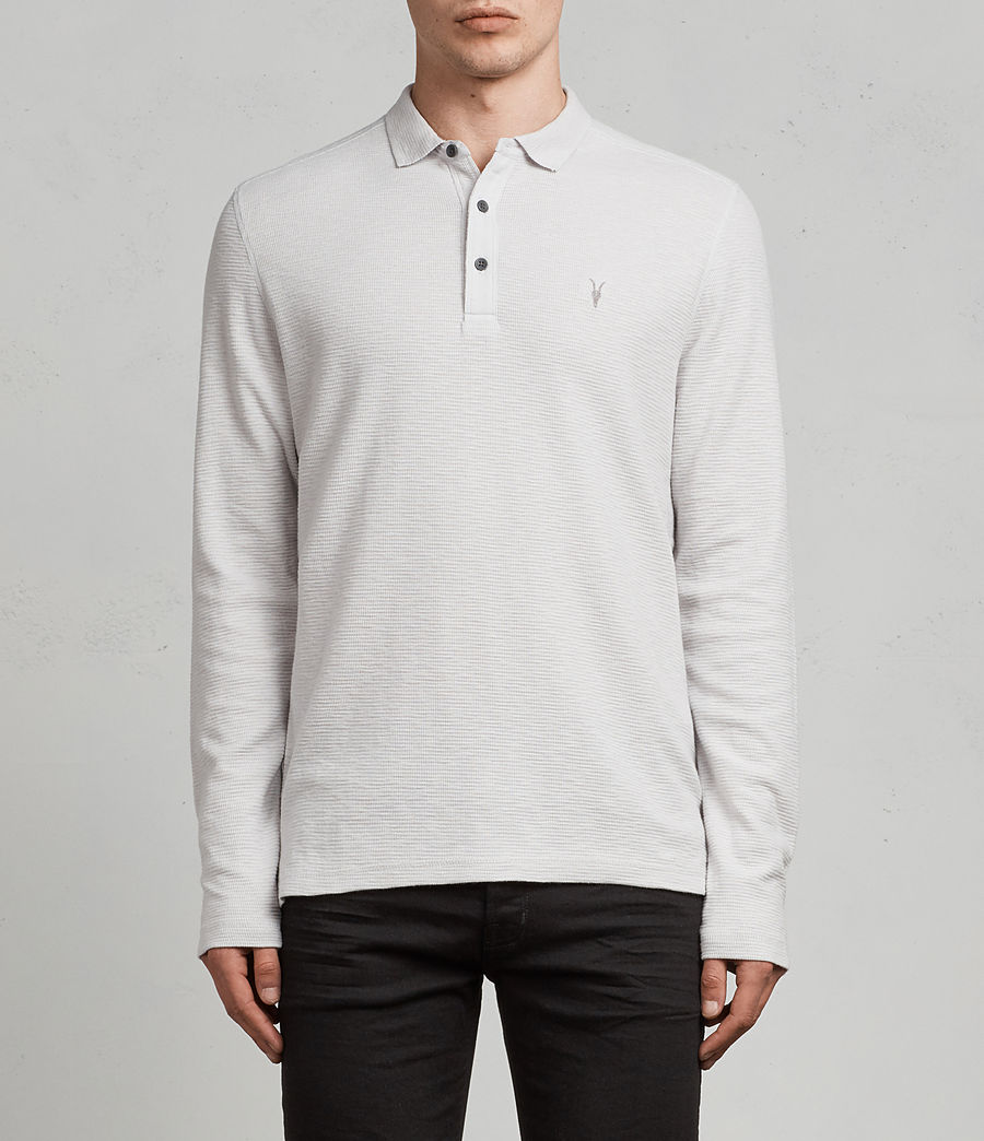 Hommes Polo Manches Longues Clash (light_grey) - Image 1