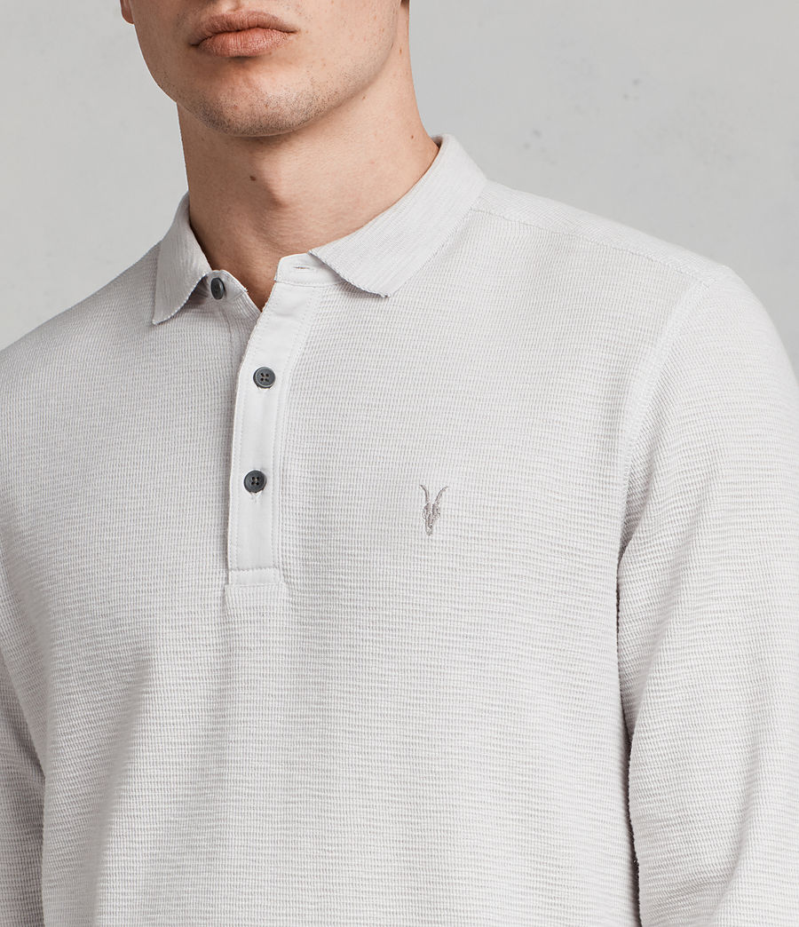 Hommes Polo Manches Longues Clash (light_grey) - Image 2