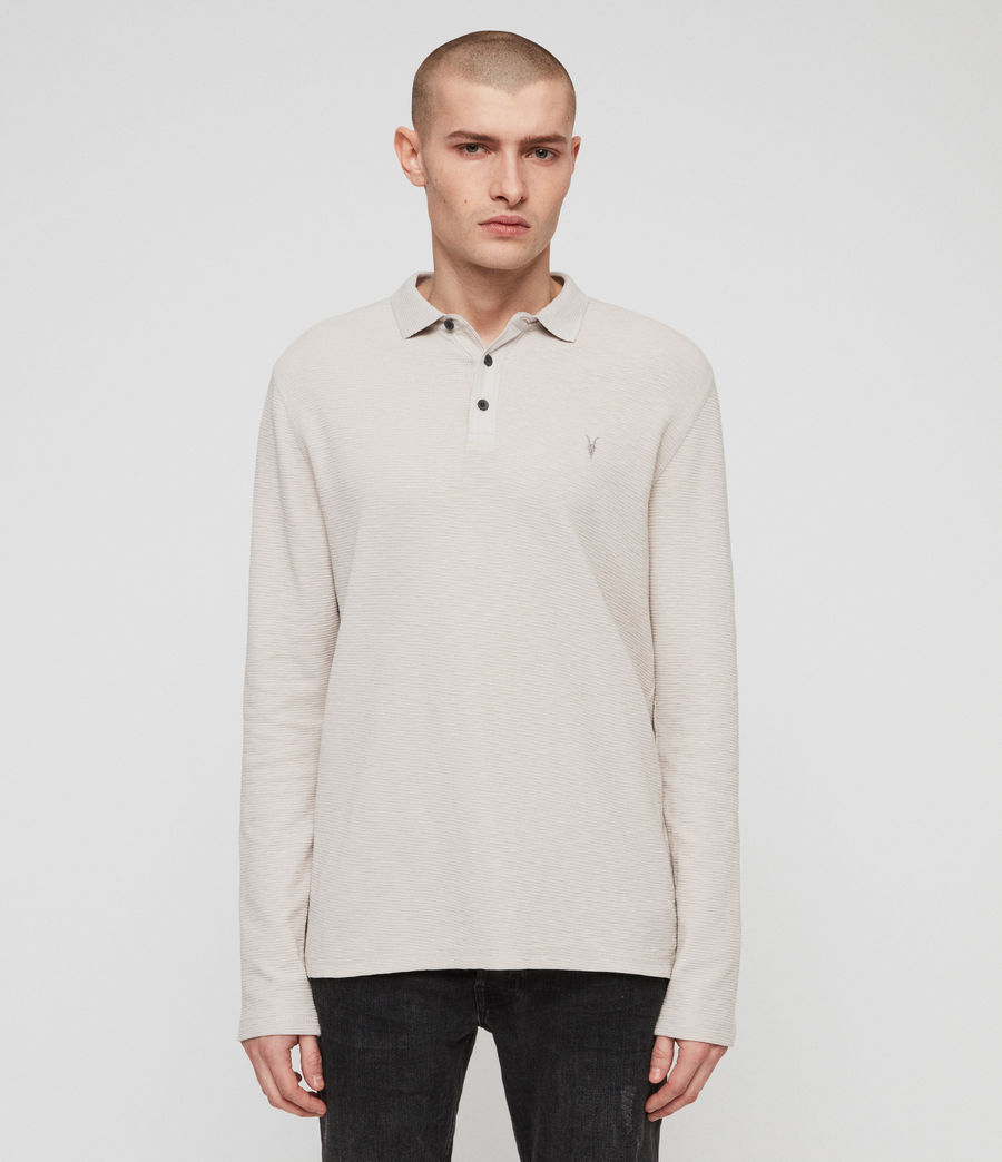 Men's Clash Polo Shirt (lunar_grey) - Image 1