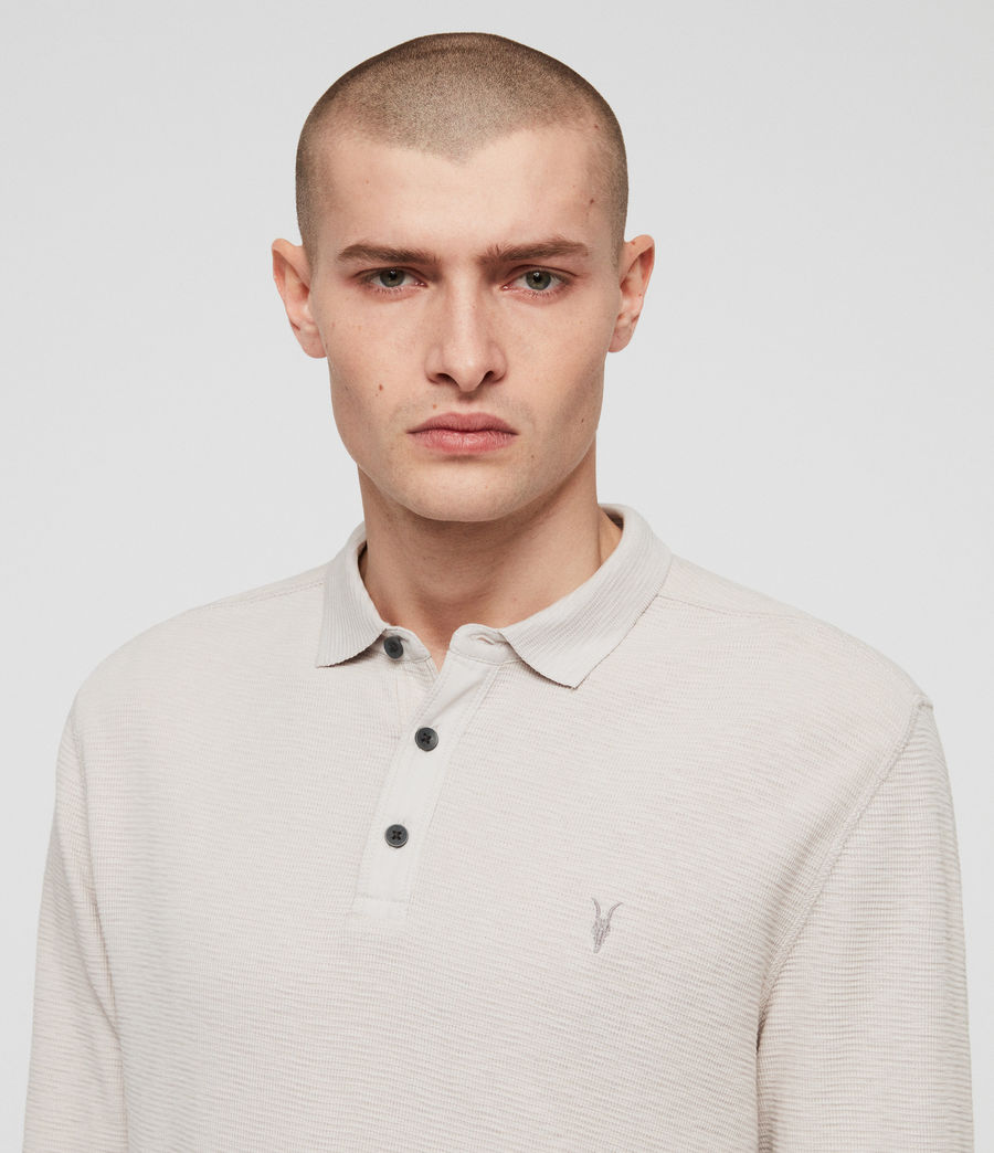 Men's Clash Polo Shirt (lunar_grey) - Image 2
