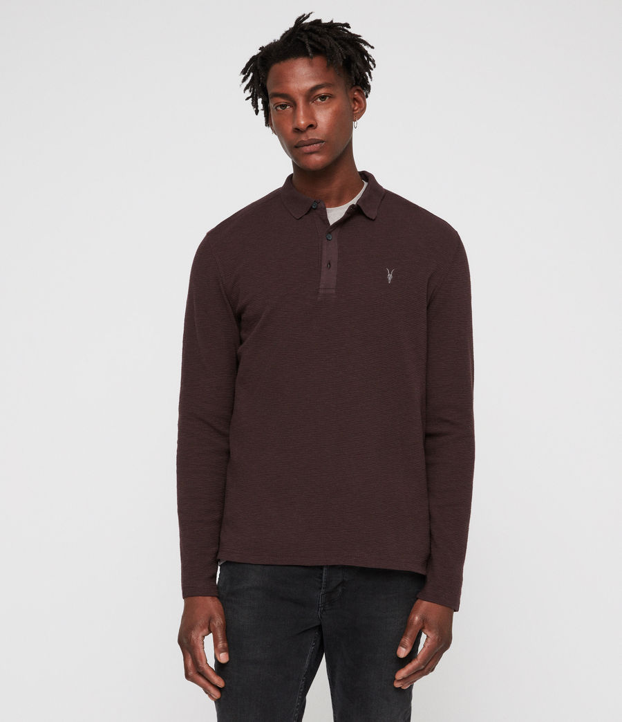Men's Clash Polo Shirt (oxblood_red) - Image 1