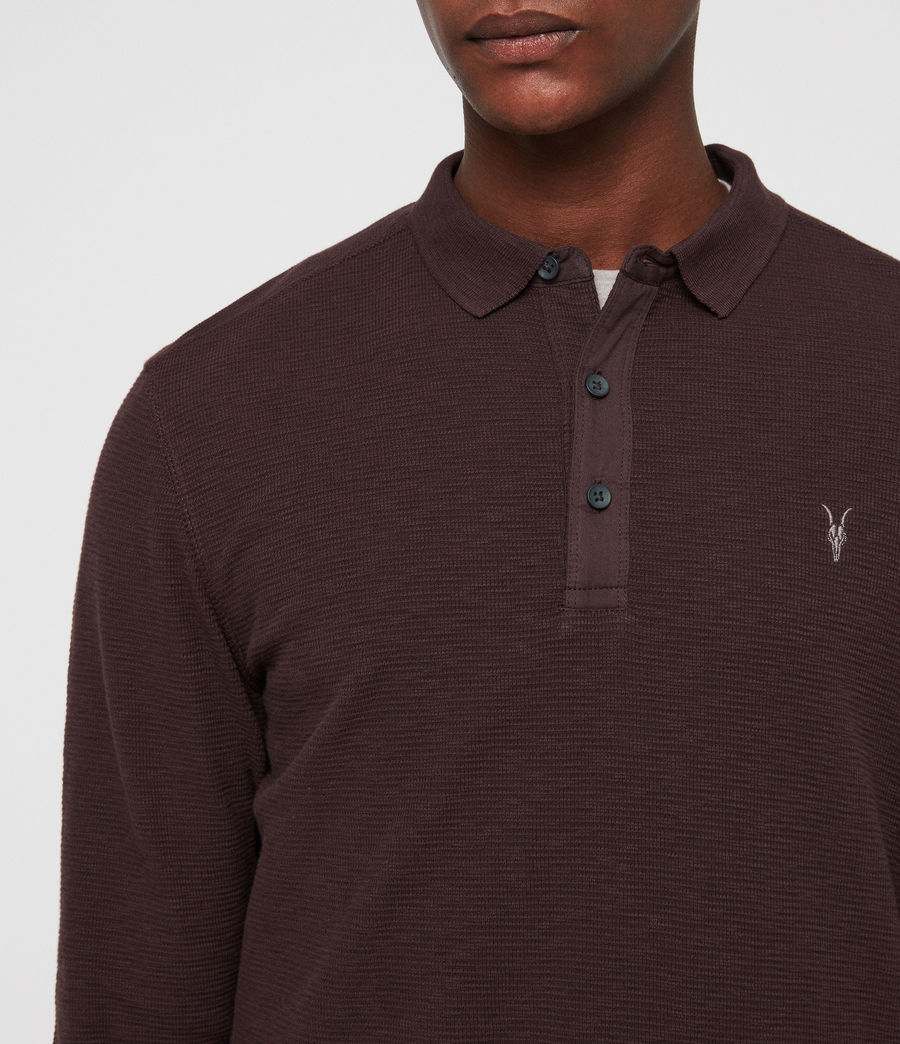 Men's Clash Polo Shirt (oxblood_red) - Image 2